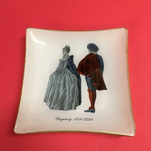 Square Glass Trinket Dish - Regency Costume